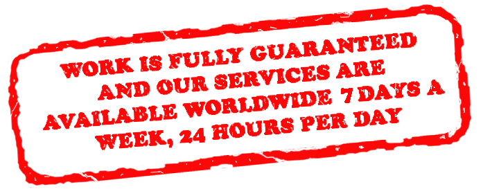 Services Available 7 Days A Week 24 Hours A Day